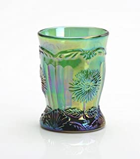 product image for Mosser Glass Dahlia Tumblers Set of 4 in Green Carnival