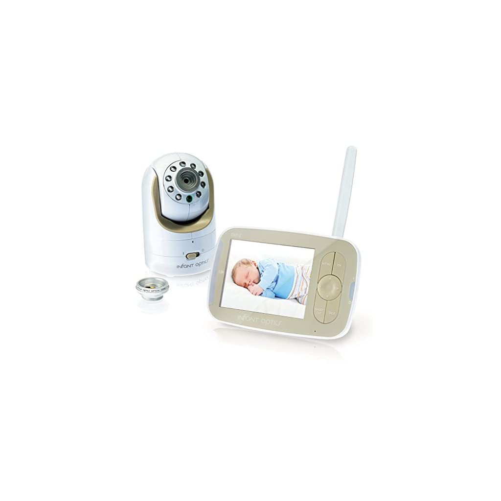 A baby monitor with an interchangeable optical
