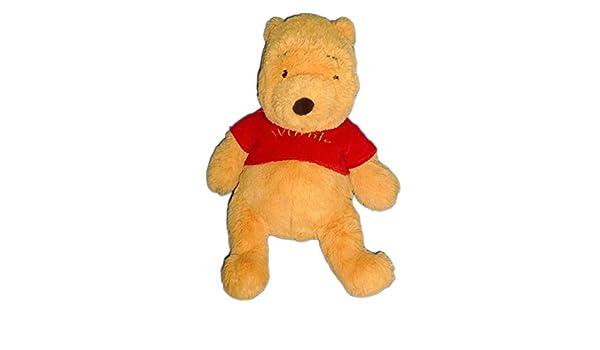 Peluche con mantita de seguridad diseño de The Pooh-Jersey WINNIE Disneyland Paris-Camiseta de manga corta, diseño de punto de pelo largo, 30 cm, ...