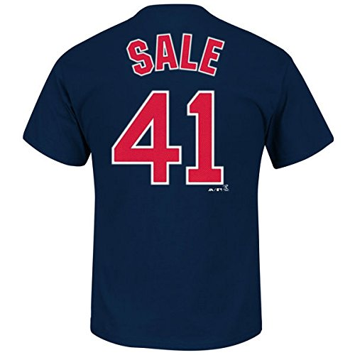 b7e0cf94a40 Amazon.com   Chris Sale Boston Red Sox  41 MLB Men s Player Name   Number  T-shirt - Navy   Sports   Outdoors