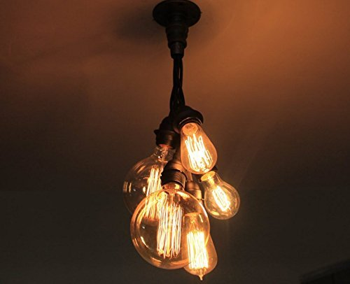 Amazon industrial cluster pendant light edison bulb chandelier industrial cluster pendant light edison bulb chandelier ceiling light industrial lighting pendent steampunk hanging aloadofball Image collections