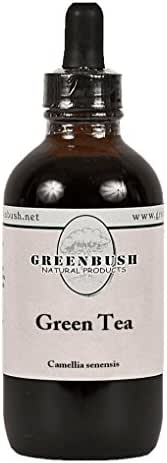 Green Tea Concentrated Alcohol-Free Liquid Extract. Value Size 4oz Bottle (120ml) 240 Doses of 1/2 ml. Weight Loss, Fat Oxidation, Metabolism Boost, Skin Health