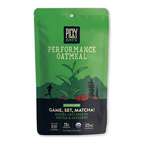 Picky Oats Organic Performance Oatmeal, Game, Set, Matcha!, 2.8 oz (Pack of 10) By Picky Bars