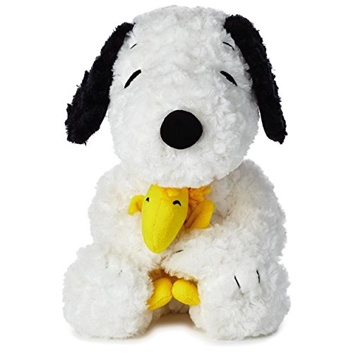 Hallmark - Peanuts Medium Snoopy With Woodstock Stuffed Animal, 14
