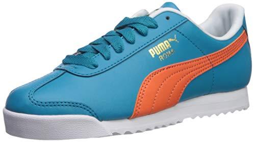 PUMA Men's Roma Basic Sneaker, Caribbean sea-Nasturtium, 6.5 M US