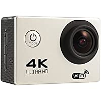 DEVELOP Ultra 4K Wifi Waterproof Sports Action Camera Helmet Cam Sport Mini Portable Camera Full HD 170 Degree Wide Angle Lens Video Cam Car Recorder_Silver