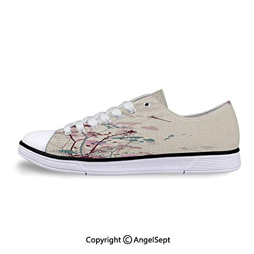 Sneaker with Dragonfly Soft Color Design Flat Canvas Shoes for Womens