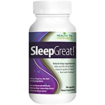 SLEEP GREAT is a Non-Habit Forming Natural Sleeping Pill. Helps You fall Asleep Faster SPECIAL SPECIAL BLEND with Melatonin, Valerian, Lemon Balm & Passion Flower extract, 100 capsules