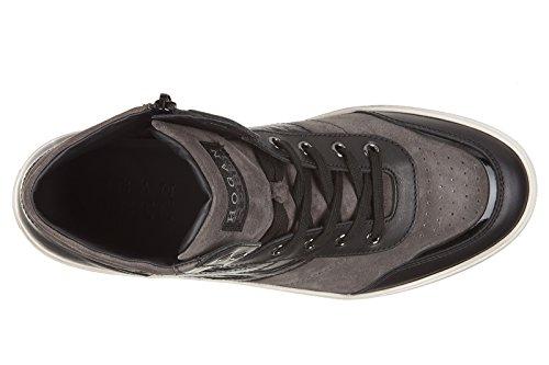 Perfecta En Línea Hogan Rebel Scarpe Sneakers Alte Uomo in camoscio Nuove r206 Mid Cut Zip Grigio Comprar Barato Entrega Rápida A La Venta El Precio Barato ialiJoJKmT