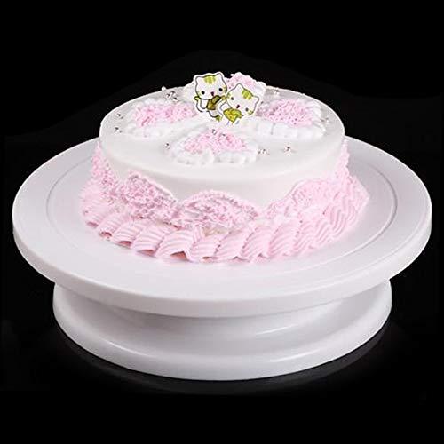 (28cm DIY Cake Turntable Cake Stand Revolving Cake Turntable Decorating Platform Anti-Skid Round Rotary Pan Kitchen Cake Tools - C by ROTTZECK)