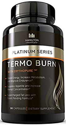 Hamilton Healthcare Platinum Series Thermo Burn Dietary Supplement with Erythopure, 90 Capsules