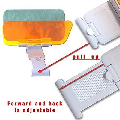 Car Visor Extender Sun Blocker - Car Sun Visor and Anti Glare Visor for Car, 2 in 1 Sun Blocker for Car Windshield, Universal Sun Visor for Day and Night Vision: Automotive