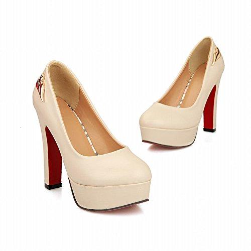 Carol Shoes Women's Western Fashion High Heel Platform Pumps Shoes apricot OeDZm9nF2L