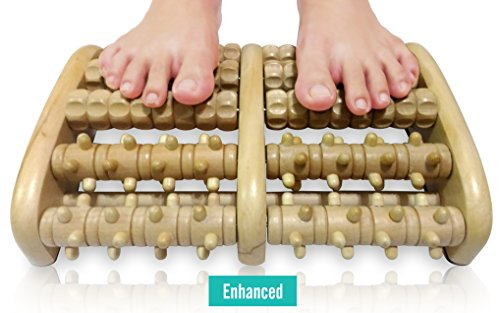 TheraFlow Dual Foot Massager Roller (XL) - Relax & Relieve Foot Pain & Plantar Fasciitis. 2018 Enhanced Model. Laminated Foot Chart & Detailed Instructions Included. Stress Relief & Relaxation Gift