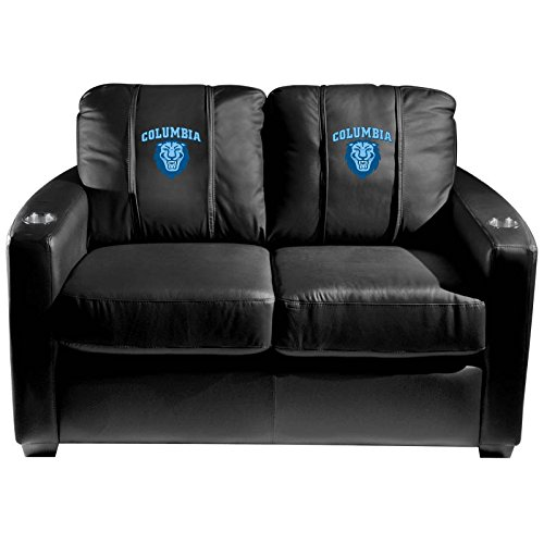 XZipit College Silver Loveseat with Columbia Lions Logo Panel, Black