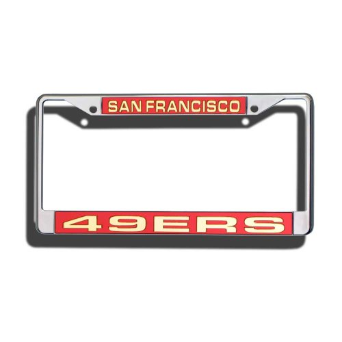 NFL San Francisco 49ers Laser-Cut Chrome Auto License Plate - Outlet Around San Francisco