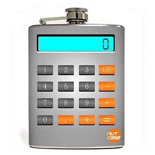 Designer Hip Flask 7 Oz - Nutcase - This Calculator Never Works !