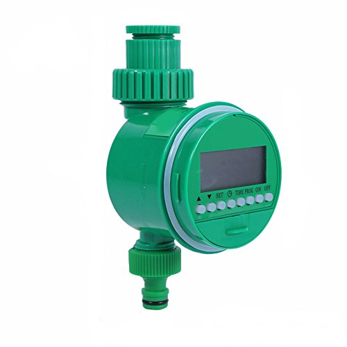 NUZAMAS Automatic Digital Tap Timer LCD Display Garden Hose Mechanical Watering Timer Control Irrigation Sprinkler System Multi Tasks