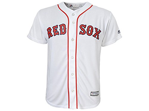 Youth Boston Red Sox Cool Base White Tackle Twill Baseball Jersey (XL)