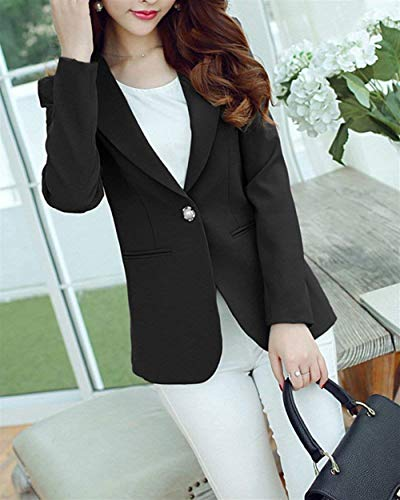 Alta Camicia Solidi Bavero di Fit Autunno Business Button qualit Donna Giubotto Colori Manica Slim Chic Blazer Lunga TUZRTnBg