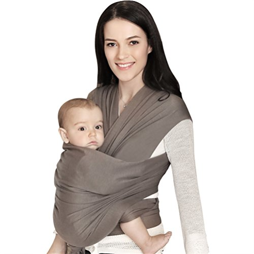 Baby Wrap for Infants and Newborn,Baby wrap Carrier, Soft and Comfortable Baby Holder,Nursing Cover,Wrap for Baby and Mom,Hands-free Babies Wraps, Baby Body Blanket as Gift Order,BELOPO,HH Gray
