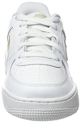 Star Air Mtlc para White Zapatillas Summit de Nike Summit 127 White GS 1 Force Baloncesto Gold Blanco Mujer 1wdqx6Aq