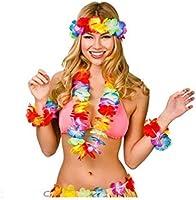 Cisne 2013, SL Pack Falda, Diadema y Pulseras para Disfraz de Hawaiana Hojas para niña o niño. Disfraz Hula Hula Dance, A Partir de Dos años. Diseño ...