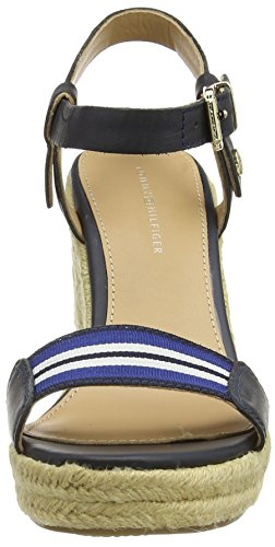 Tommy Hilfiger Emery 87C, Women's Wedge Heels Sandals Blue (403 Blue)