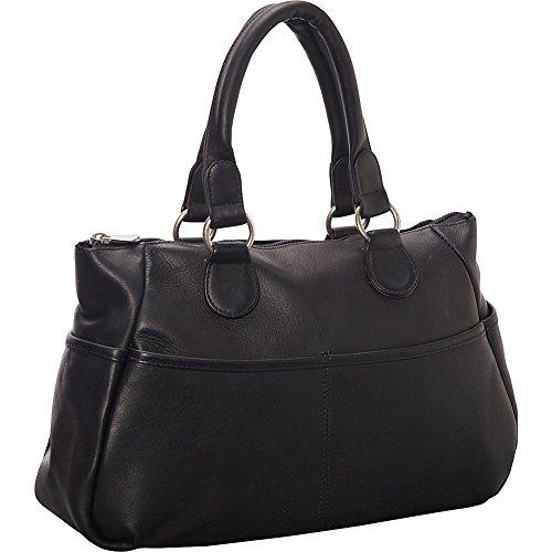 le-donne-leather-slip-pocket-satchel-black
