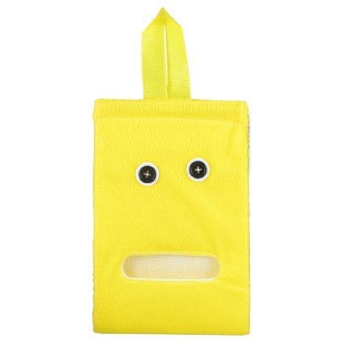 (Water & Wood Washroom Wall Hanging Yellow Plush Toilet Roll Paper Tissue Dispenser Holder )
