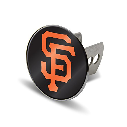 (Rico MLB San Francisco Giants Laser Cut Metal Hitch Cover, Large, Silver)