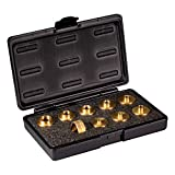 POWERTEC 71051 Brass Router Bushing Set with Case