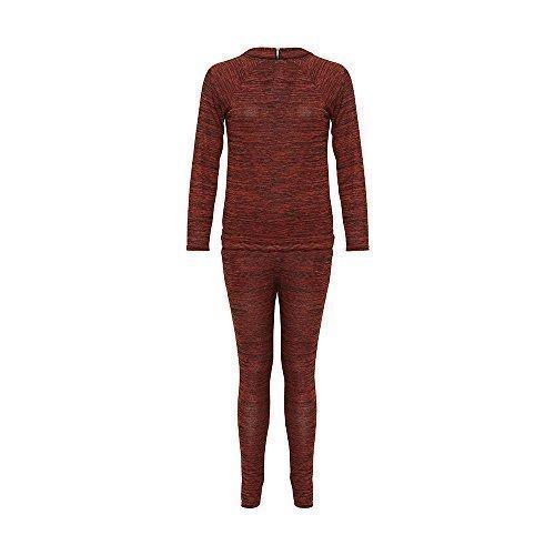 Damen 2-Teiliger Zop & Hose Freizeit Jumpsuit Anzug Funky Leggings Damen Reißverschluss Detail Set