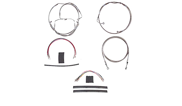 HCC-67-0394 Hill Country Customs Stainless Braided 2 Clutch Cable for 2007 Harley-Davidson Touring models