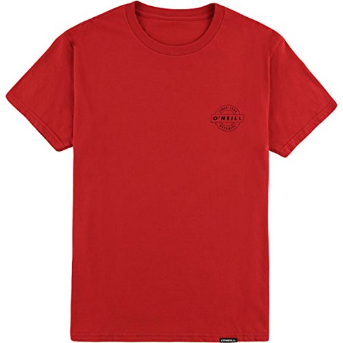 O'Neill Men's Modern Fit Front and Back Logo Short Sleeve T-Shirt, Tailgate Red, M