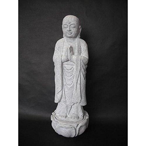 合掌地蔵10号天然石丸彫り B01AU9LZEU