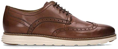 Cole Haan Men's Original Grand Shortwing Oxford Shoe, Woodbury Leather/Ivory, 10 Medium US from Cole Haan