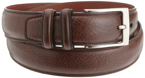 Perry Ellis Mens Hc Milled Belt, Chocolate, 36