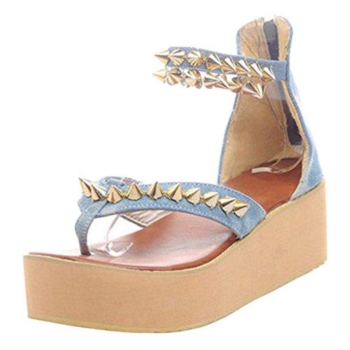 FizaiZifai Women Zipper Flatform Sandals Sandals Sandals Parent B07CVCL2LS c62e9b
