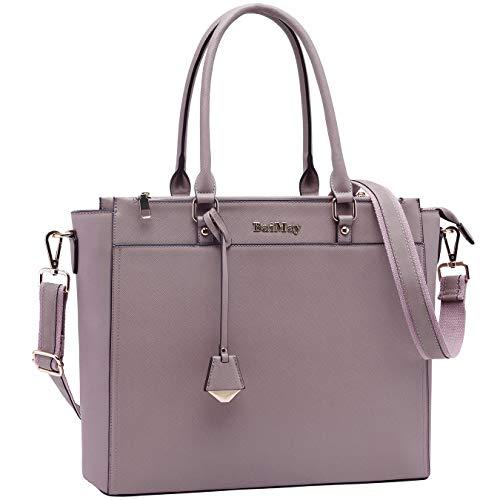 Laptop Bag for Women 15 15.6 Inch Work Tote Bag Office Handbag Business Briefcase Multi Pockets Laptop Shoulder Bag with Exquisite Pendant for Work School Travel