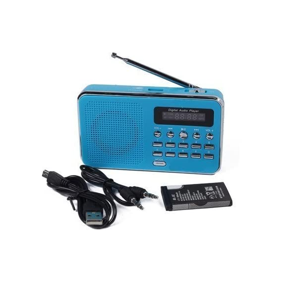 Glive's MP3 Music Player L-SS3 Portable FM Radio Player Mini Speaker with 3.5mm Jack AUX , Pendrive , Memory Card
