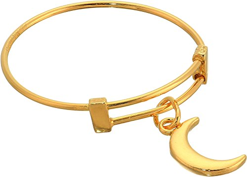 Alex and Ani Women's Moon Expandable Wire Ring - Precious Metal 14kt Gold Plated One Size
