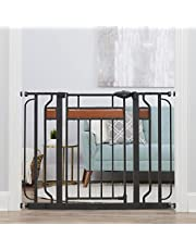 Regalo Home Accents Metal Walk-Through Safety Gate, With Wood Accents