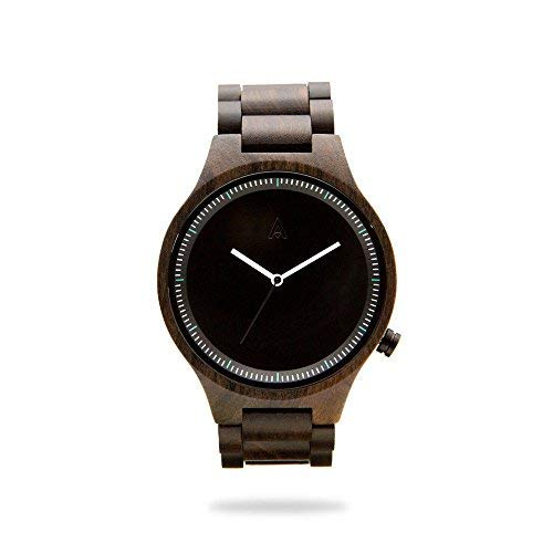 MAM Originals · Owl Black | Men's Watch | Minimalist Design | Watch Made from sustainably Sourced Sandalwood | Superior Quality at an Affordable Price