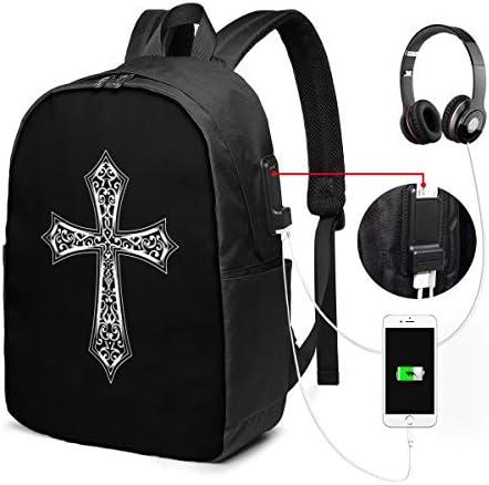 ビジネスリュック クロス メンズバックパック 手提げ リュック バックパックリュック 通勤 出張 大容量 イヤホンポート USB充電ポート付き 防水 PC収納 通勤 出張 旅行 通学 男女兼用