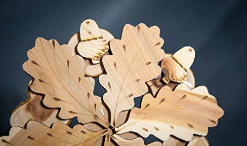 Teapot Trivets Set Handmade Carved Wood Ukrainian Juniper Wooden hot pad for a teapot + Cups by Tea Hot 2 (Image #2)