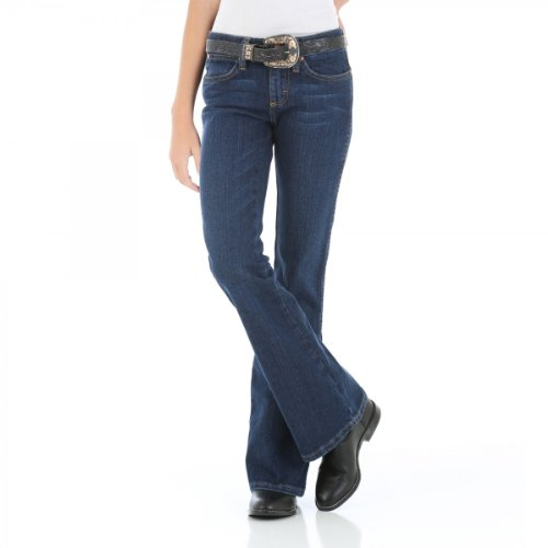 Wrangler 09MWJBN Wr West Jeans-Youth Girls Premium Patch Low Rs Jn 1T-6X - Premium Outlet Texas