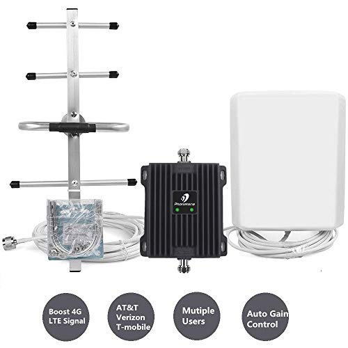 - Cell Phone Signal Booster for Home and Office with Automatic Gain Control Features - Dual Band 700MHz 4G LTE Mobile Repeater - Cover up to 4500 sq ft