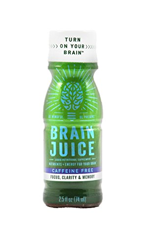 #1 Liquid Brain Supplement •Caffeine Free • Supports Healthy Brain Function • Nootropic Decaf Green Tea, Vitamin B12, Choline • Natural Ingredients • Feel Focus Now GUARANTEED (12 Pack)