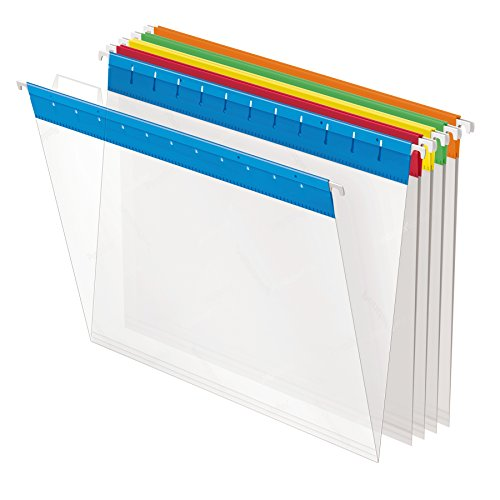 Esselte Pendaflex Hanging Folder - Pendaflex 55708 Poly Hanging File Folders, 1/5 Tab, Letter, Assorted Colors (Box of 25)